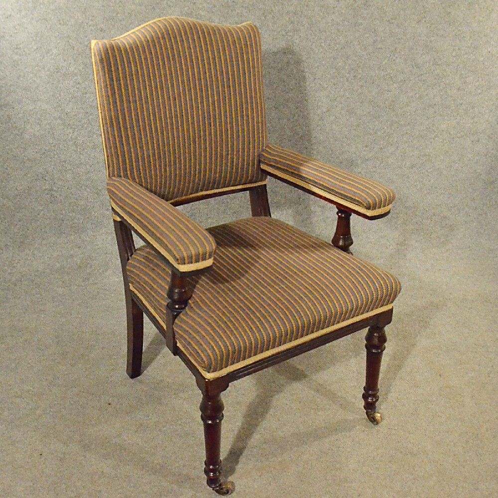 Antique easy chair - Antique Armchair Mahogany Salon Easy Chair Comfortable English Victorian C1900