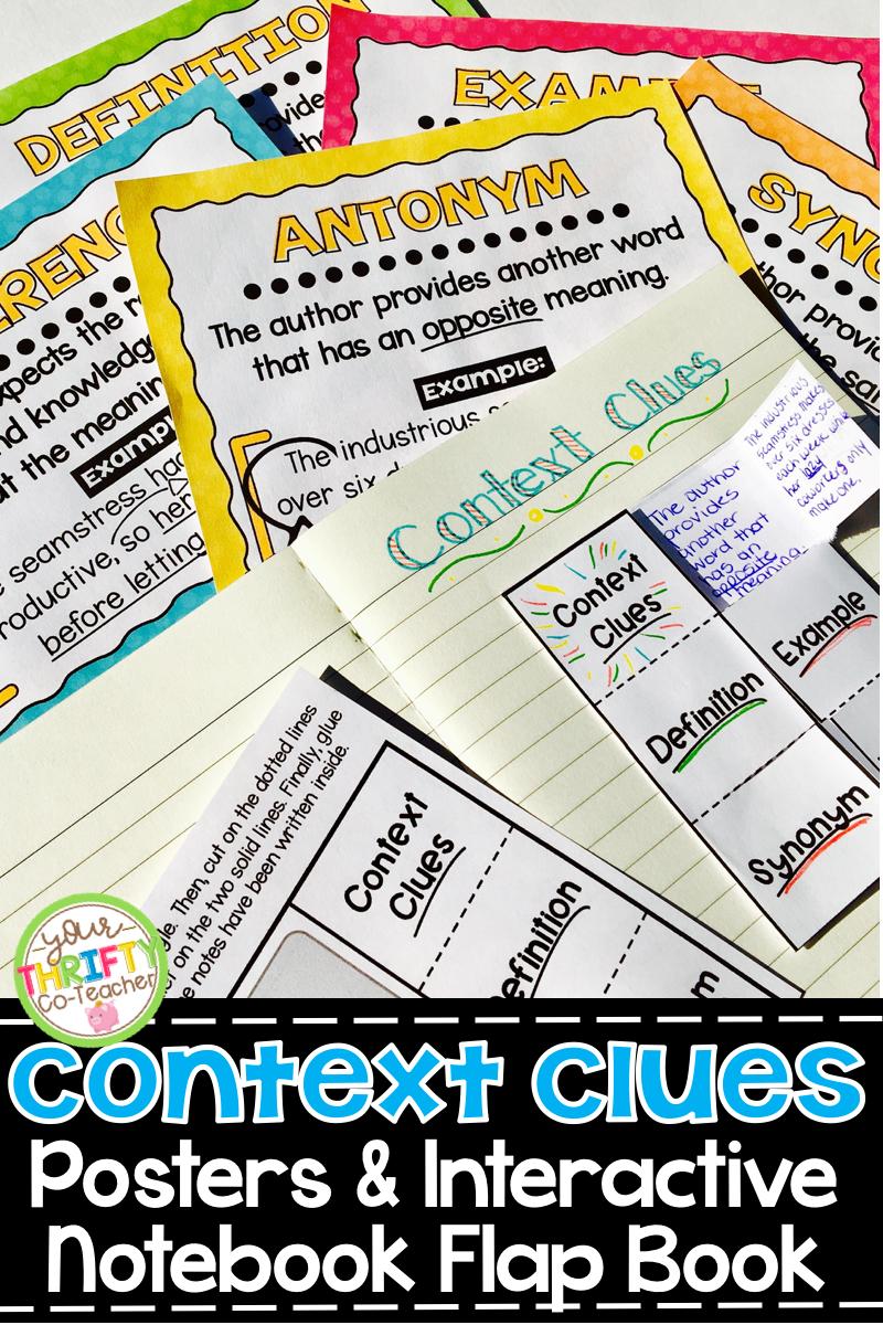 Context Clues Posters: Context Clues Activities (interactive ...