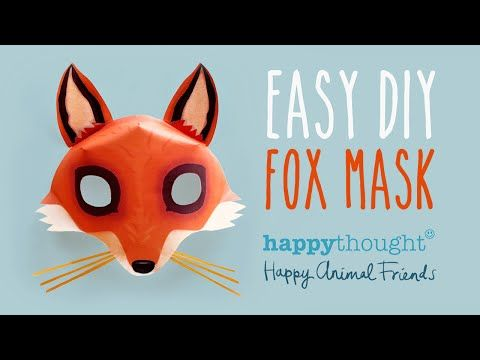 Free DIY Fox Mask template and tutorial: Make your own 3D red fox ...