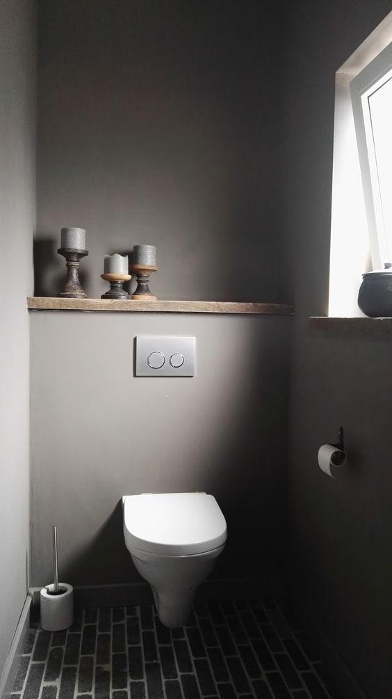 graues g ste wc kleines bad grau simple modern badezimmer in 2018 pinterest badezimmer. Black Bedroom Furniture Sets. Home Design Ideas