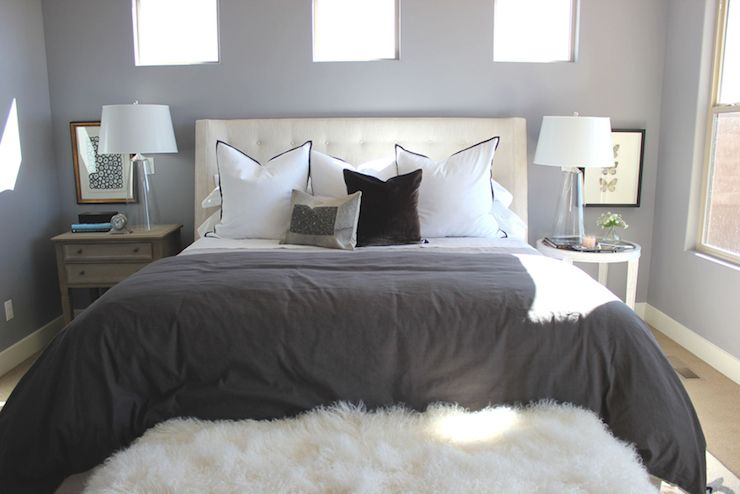 Mismatched Nightstands Transitional Bedroom Alice Lane Home Mismatched Nightstands Bedroom Furniture Home Bedroom