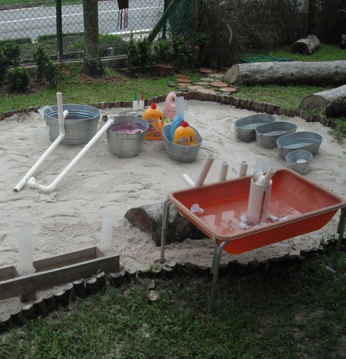 Sand & Water Play At Blue House International School