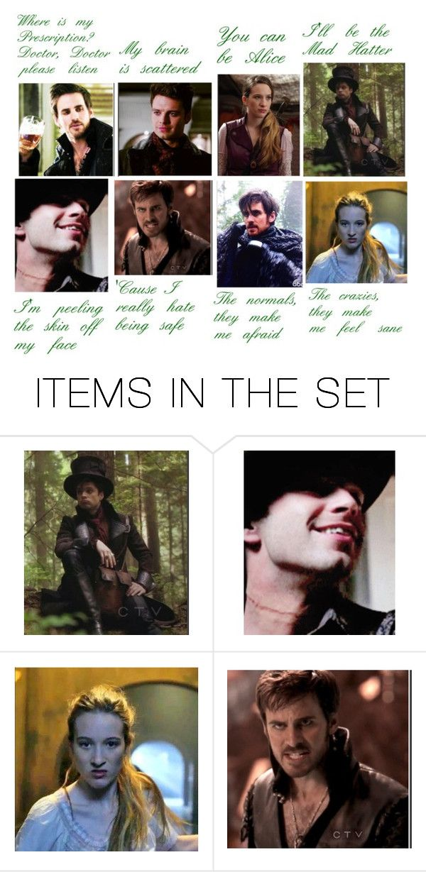 """Killian/Jefferson (and Alice): Mad Hatter- Melanie Martinez"" by bandumb ❤ liked on Polyvore featuring art"