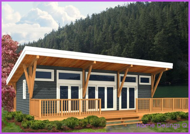 Awesome Post Beam Home Designs Shed Roof Design Cottage Plan Guest House Plans