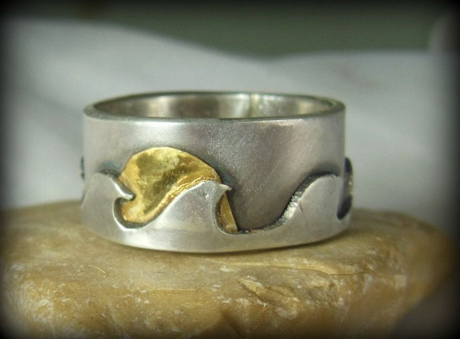 gabriela oxidized tamarindo p surfer costa hollow wedding line rings silver a sterling ek art jewelry rica bands with valenzuela