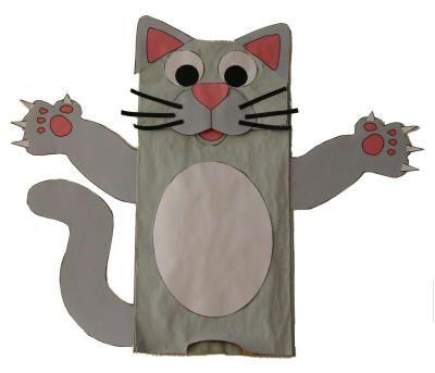 Paper Bag Cat Craft\