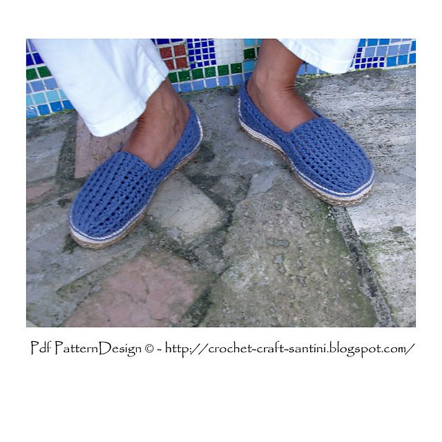 904771c9 Alpargata hombre | Crochet | Zapatos, Alpargatas hombre y Botas tejidas