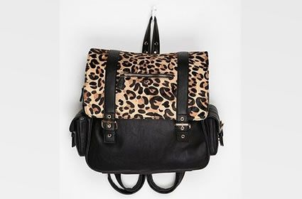 Love this Urban Outfitters Leopard Double Buckle Backpack?! Enter here at www.getgumball.com to WIN it! #giveaway #fashion #cheetah