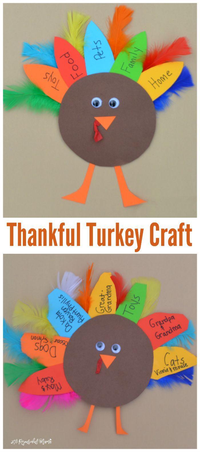 Thankful Turkey Kid Craft And Book Turkey Crafts Kids Thanksgiving Crafts For Kids Thanksgiving Crafts