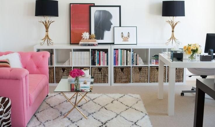 Furniture, Modern Office Get The Best White Color Wall Picture Frame Some Storage Books Ideas Picture Frame Lamp Black Color Accessory Decoration Pink Color Soft Sofa Table Glass Small Shaped Brown: Design Your Book Well In Best Concepts Of Etagere Bookcase That You Like From The Example Today