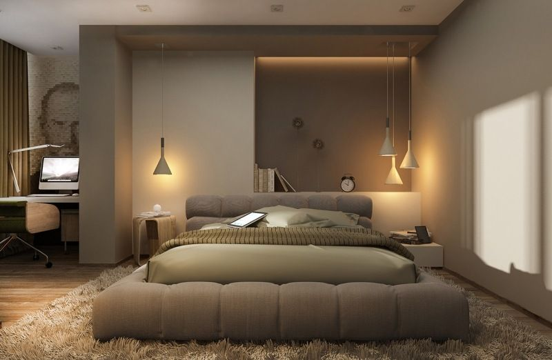 Schon Interesting Base For The Bed (indirekte Beleuchtung Led Schlafzimmer  Brauntoene Wandnische)