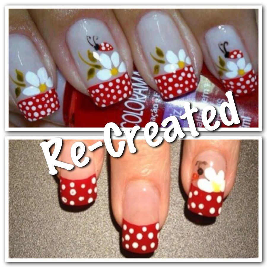 Lady Bug Nail Designs | Nails | Pinterest | Diseos para ...