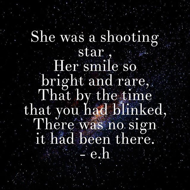 Shooting Quotes: She Was A Shooting Star #quote #nature #beauty #stars
