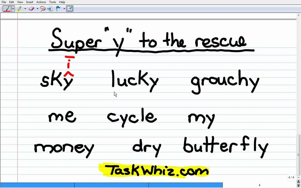 worksheet Y As A Vowel Worksheets y as a vowel phonics story lesson teaching with technology lesson