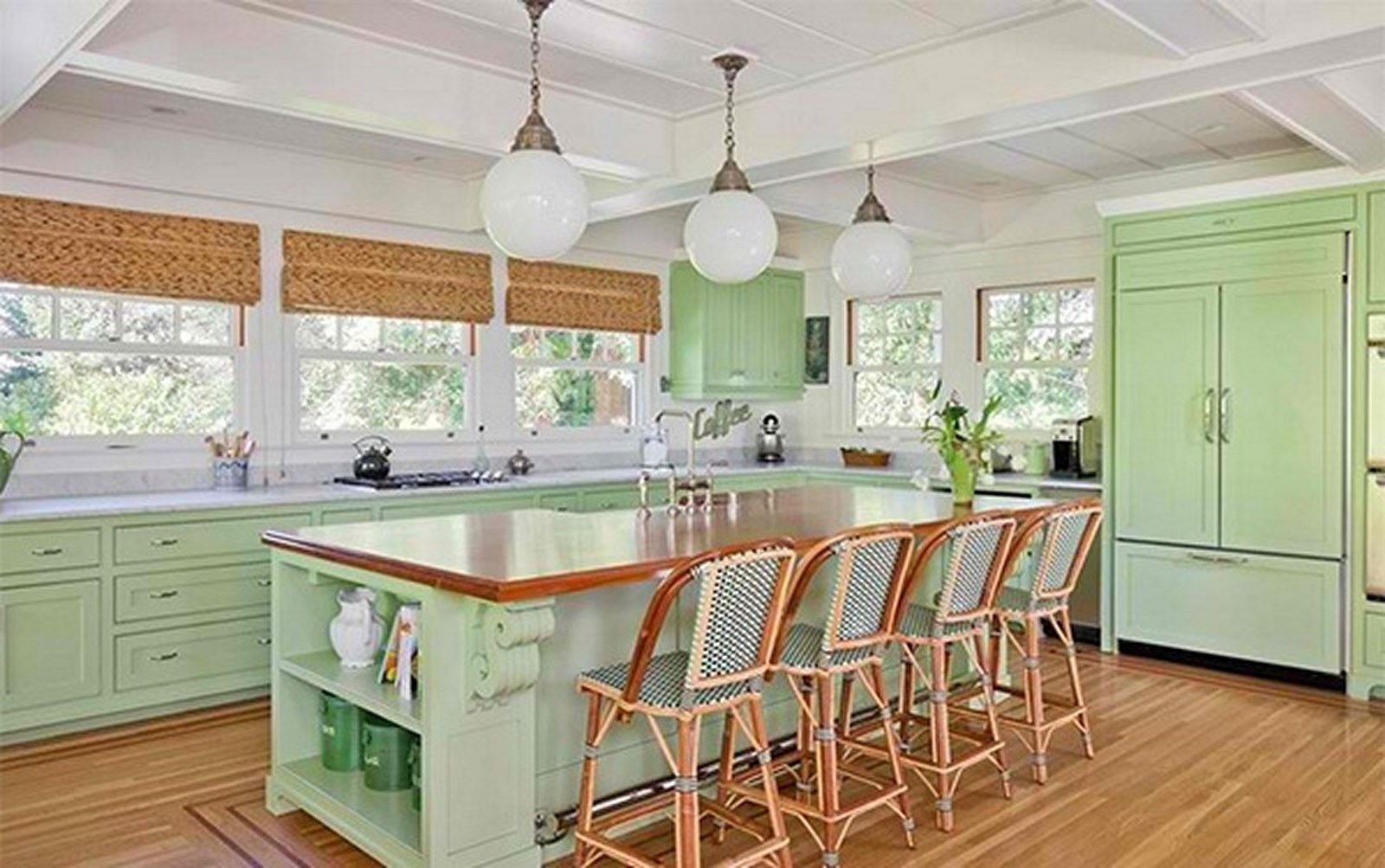 bright green kitchen amazing kitchens and dining areas pinterest