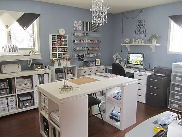 Love being organized .... reminds me kinda of how my new craft room is layed out, but I have a different color scheme.
