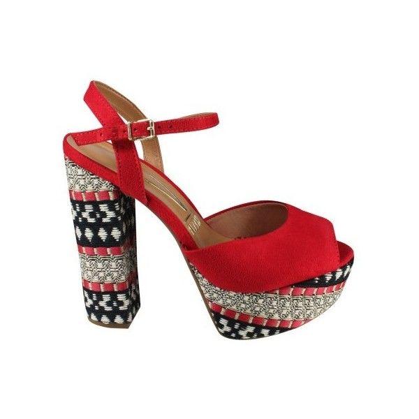 7ba1a97a6c Sandália Meia Pata Vizzano 6282.100 Vermelho (Camurça Flex) Calçados... (90  BRL) ❤ liked on Polyvore featuring accessories