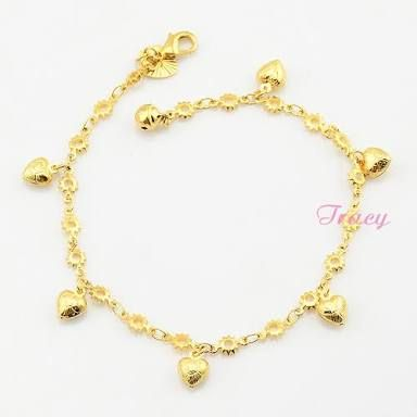 c4f5e6ad0 Image result for chain bracelet designs for girls in gold | H in ...