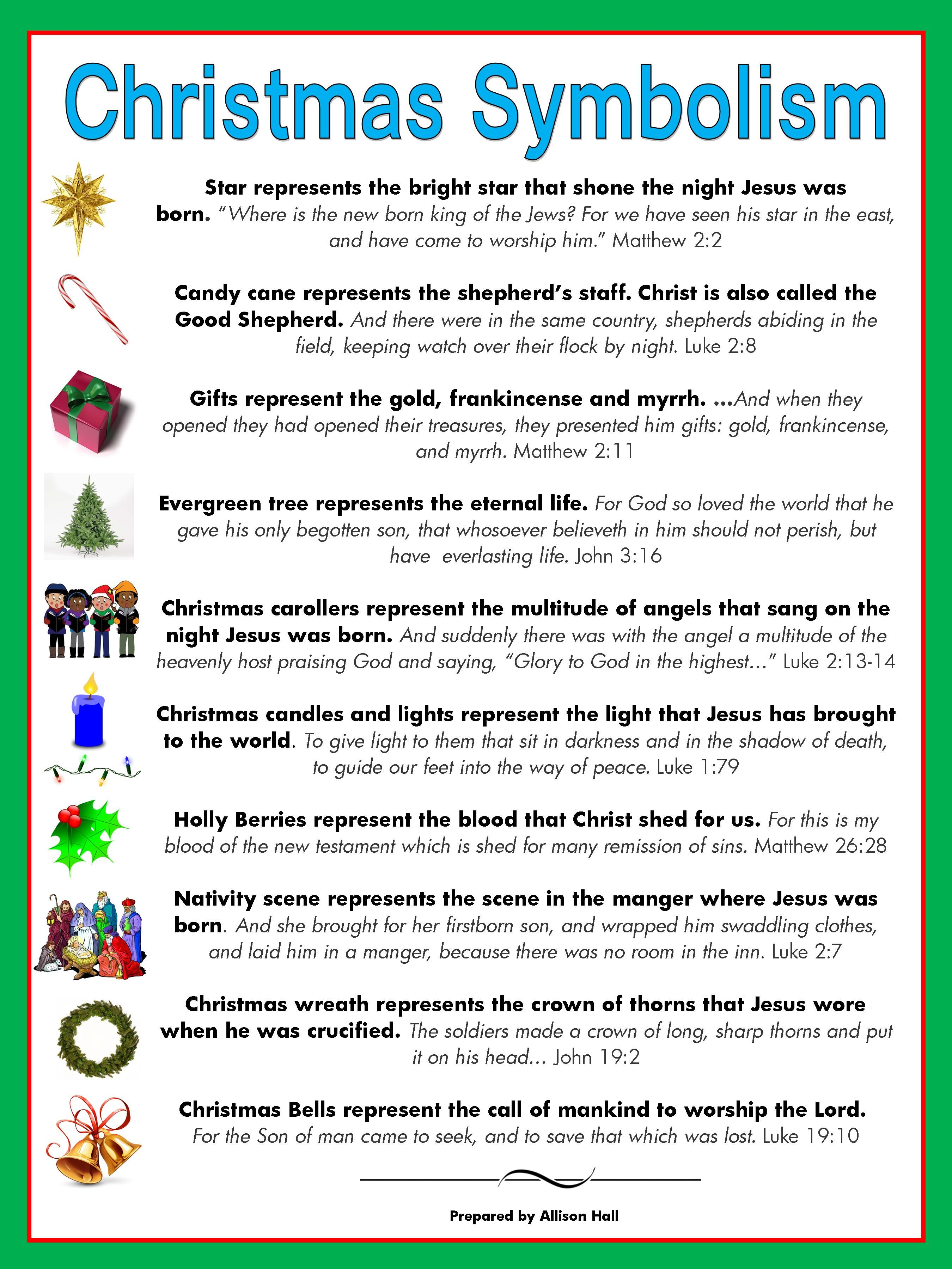 The meaning of Christmas symbols | Bible Studies | Pinterest | Symbols