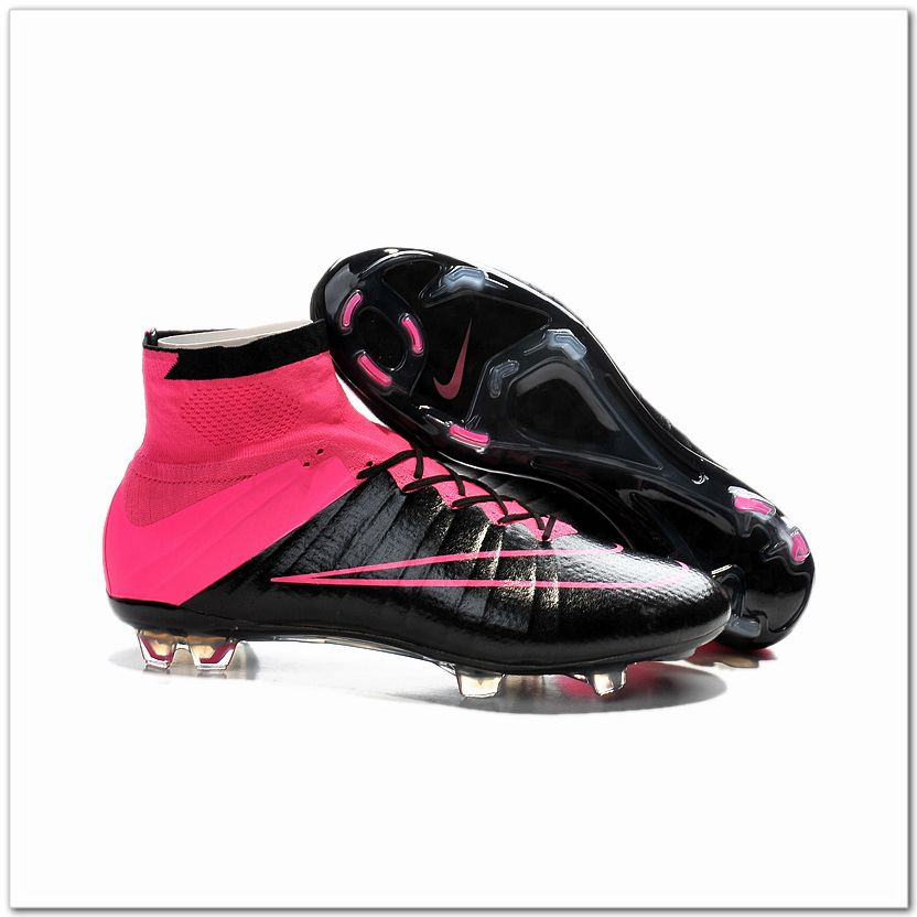 d34acda7c0f4 Nike Mercurial Superfly IV FG Leather Cleats Black Hyper Pink $107.98