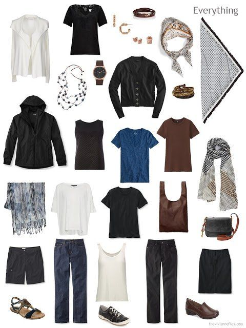 How to Pack a Foolproof Travel Wardrobe, All in Neutrals #travelwardrobesummer