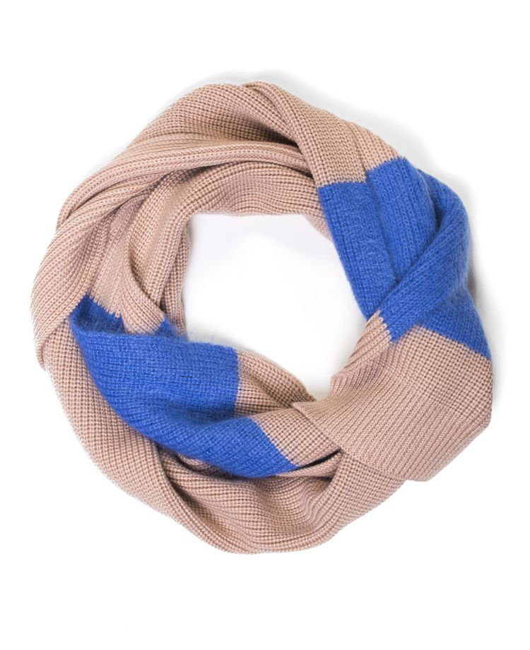 Carven - Mohair Stripe Scarf Biscuit - SOTO Berlin