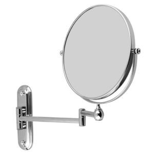 Floureon 8 Inches Double Sided Wall Mount Mirror Cosmetic Make Up Shaving Bathroom Magnification Video Security Systems
