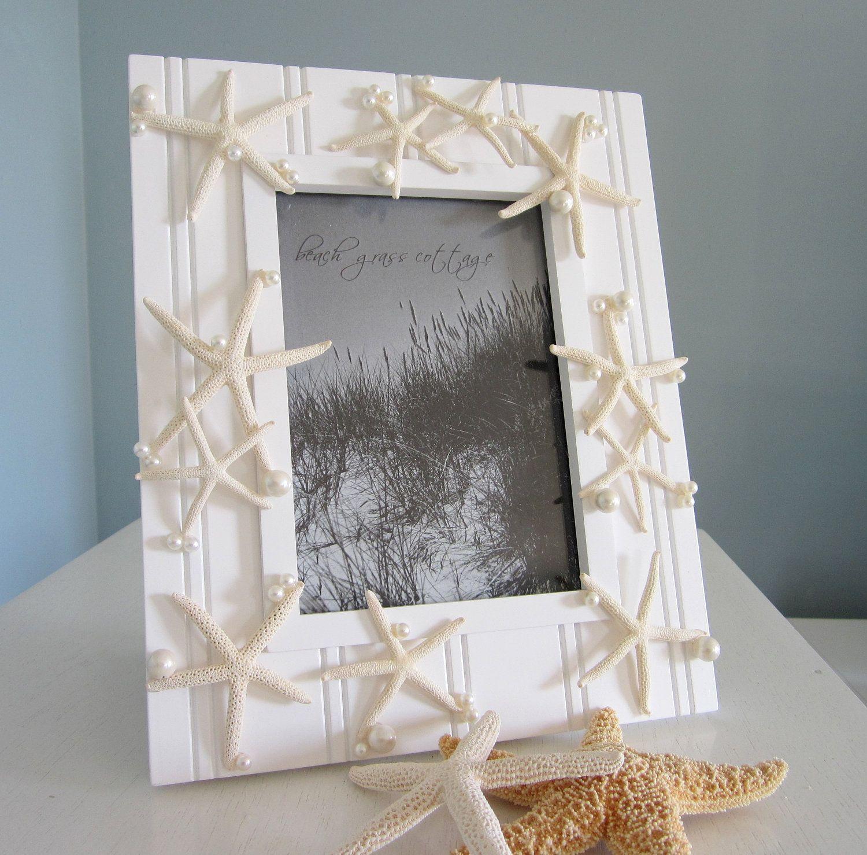 Beach Decor Seashell Frame   shell crafts   Pinterest   Decoraciones ...