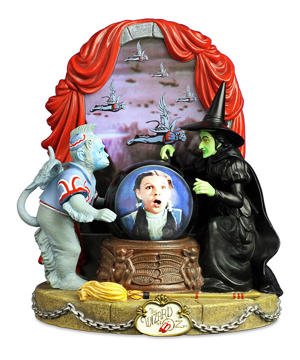 """Take a look at this Wizard of Oz Wicked Witch & Dorothy Water Globe on zulily today!  $59.99, plays """"Witch Song"""" and """"I'll get you my pretty"""" sound bite"""