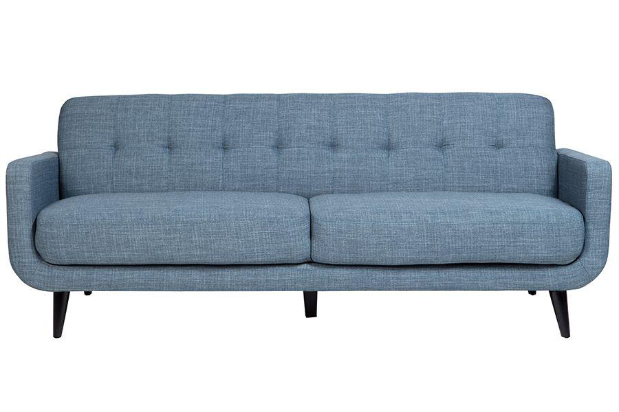 Casper U7777 Blue Mid Century Modern Sofa Set   Furniture Connexion