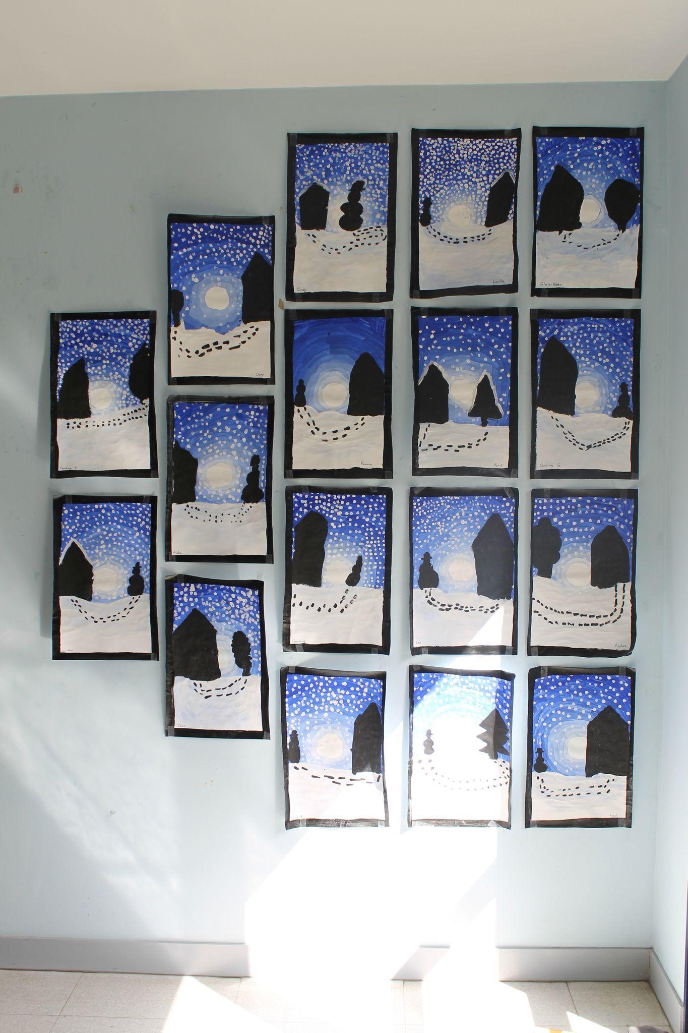 08 arts visuels les paysages d 39 hiver 1 arts visuels for Art plastique peinture