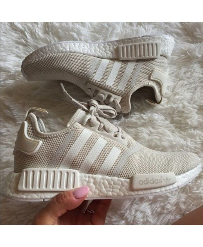 2a8ea85b4c86 Adidas NMD R1 Beige Tan white Trainers