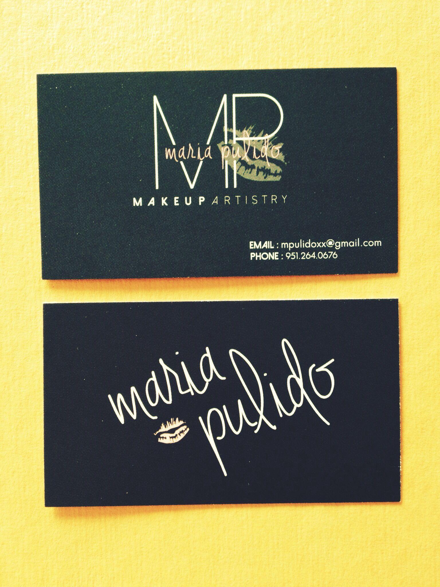 Business Card Design- Makeup Artistry | Inspirations | Pinterest ...