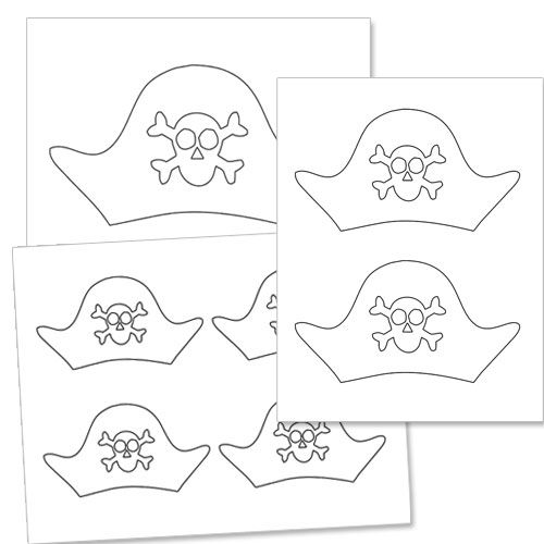 Pirate Hat Template Printable Treats Pirate Hat Template Pirate Crafts Pirate Template