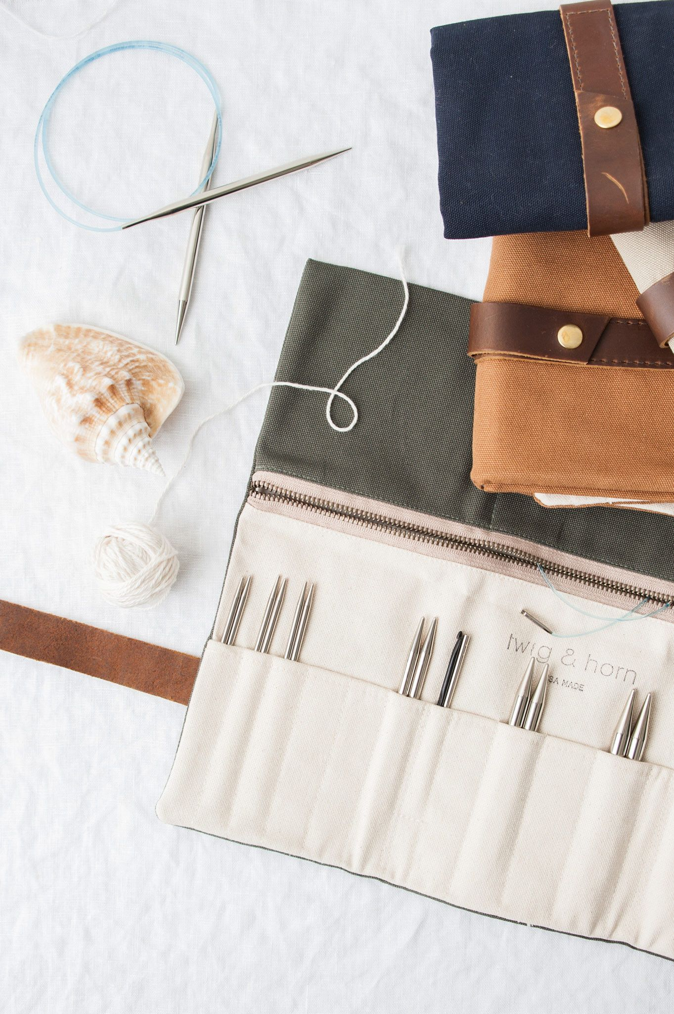 canvas interchangeable needle case | Needle case, Knitting ...