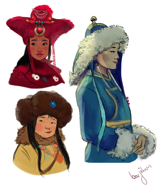 "bevsi: ""studying Mongolian traditional wear """