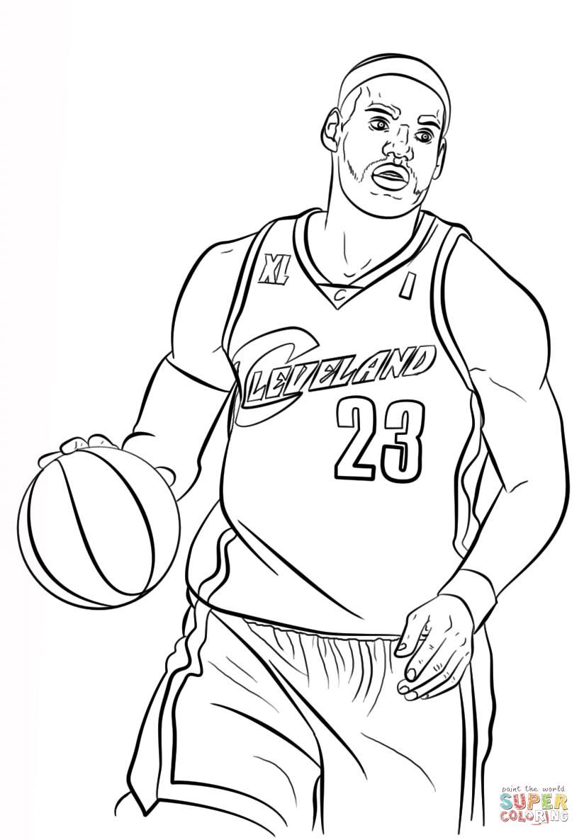 Coloringsco Lebron James Coloring Pages