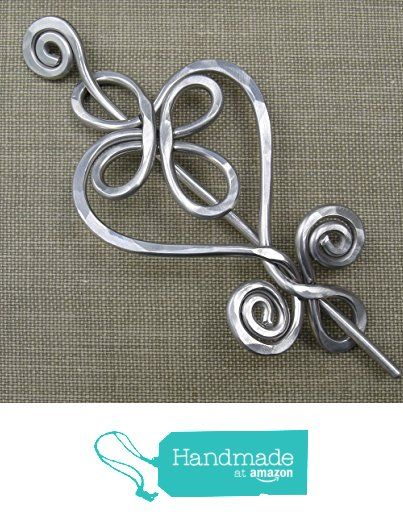 Celtic Heart Aluminum Shawl Pin, Sweater Brooch from Nicholas and ...
