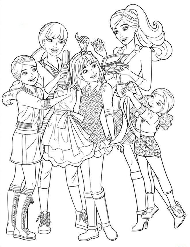Barbie Her Little Sisters Coloring Page