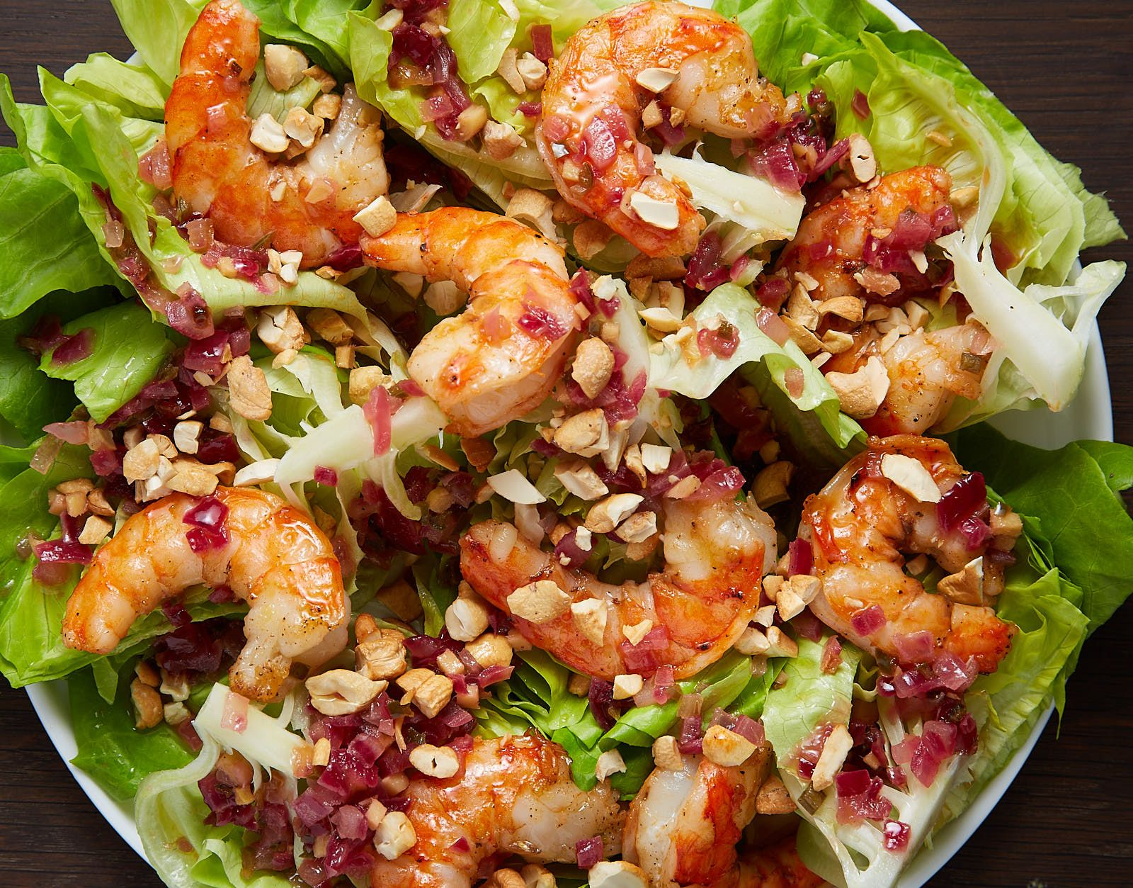Bibb Lettuce Salad with Grilled Shrimp #grilledshrimp