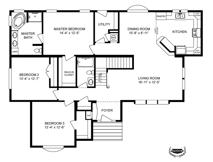Clayton homes home floor plan manufactured homes for Tiny mobile home floor plans
