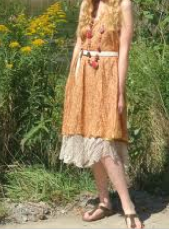 Wearing Birkenstocks with a beautiful dress