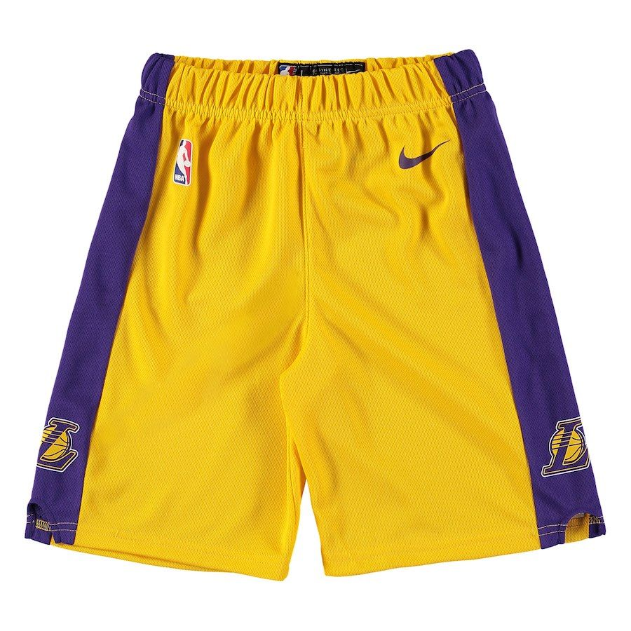 20878d2b82e3 Youth Los Angeles Lakers Nike Gold Icon Replica Shorts