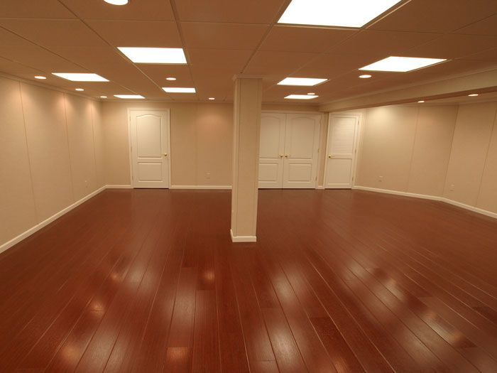Rosewood Faux Wood Basement Flooring For Finished Basements