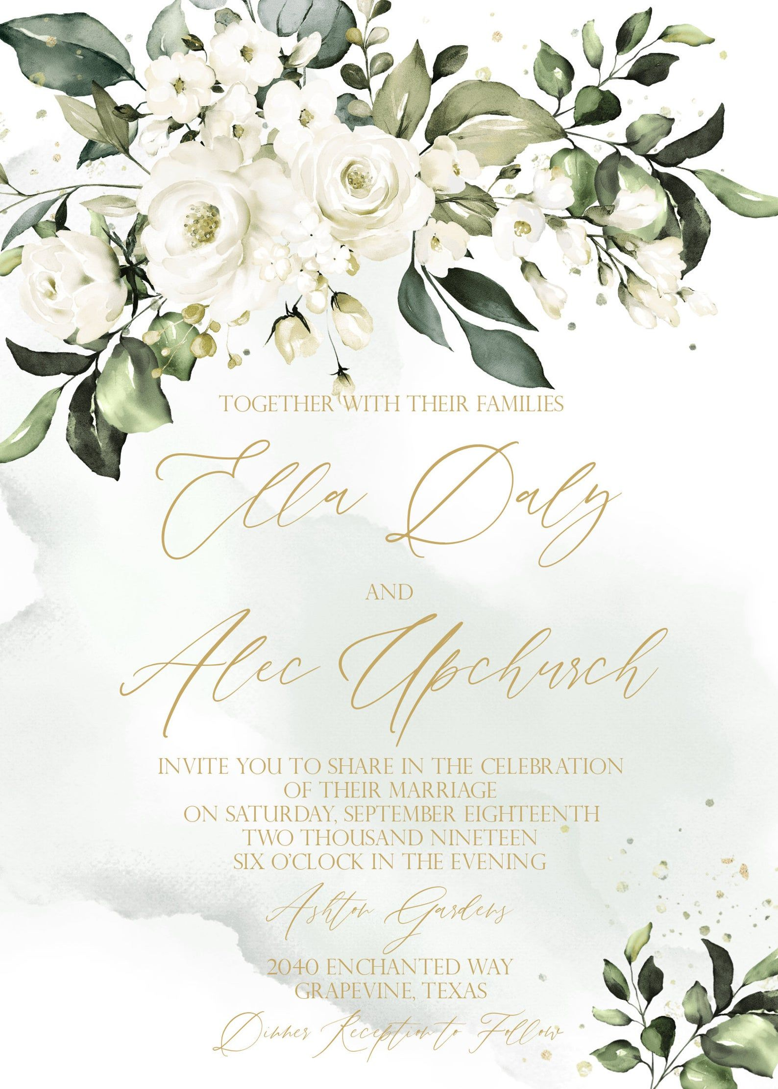 Southern Wedding Invitation Template Magnolia Wedding Etsy Southern Wedding Invitations Wedding Invitations Diy Magnolia Wedding
