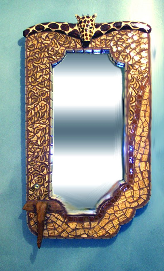 African/Tropical theme mosaic mirror by MorningsideManor ...