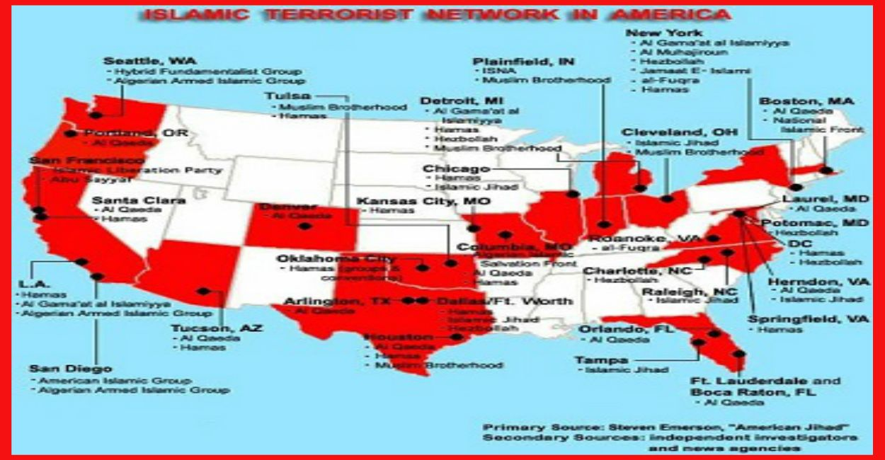 Chilling Map Shows The 22 Confirmed Jihadi Training Camps In - Isis Training Camps In Us Map