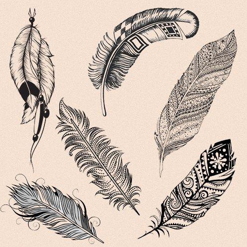 32++ Dessin tatouage plume indienne inspirations