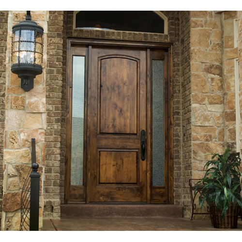 Knotty Alder Arch Top Exterior Door The Wood Looks So Great With