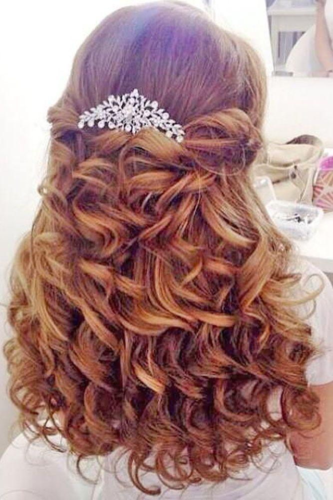 Flower Girl Hairstyles curly bun formal girls hairstyle 30 Cute Flower Girl Hairstyles